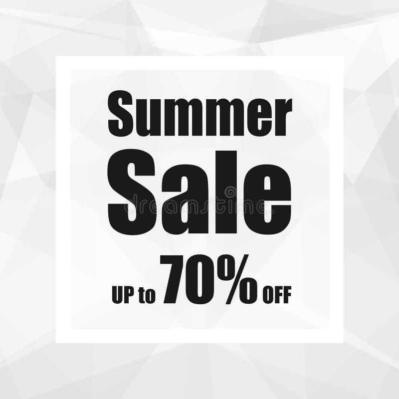 Venta del verano hasta el 70% apagado con estilo del fondo del extracto del polígono diseño para una tienda y las banderas de la  ilustración del vector