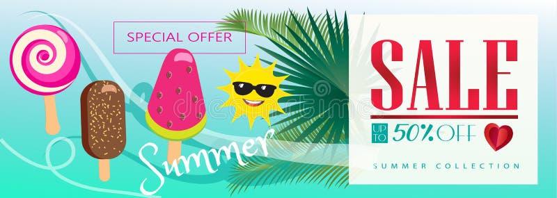 Venta del verano tropical ilustración del vector
