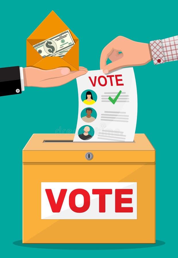Venta del voto para la elección ilustración del vector