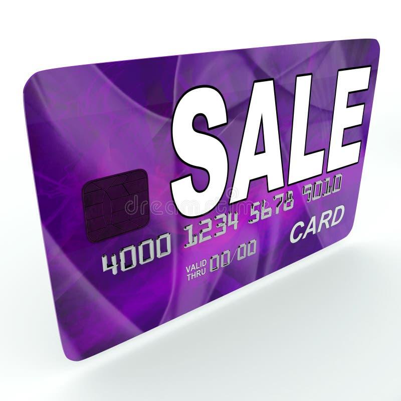 Venta en la promoción del negocio de la oferta de las demostraciones de la tarjeta de débito del crédito stock de ilustración