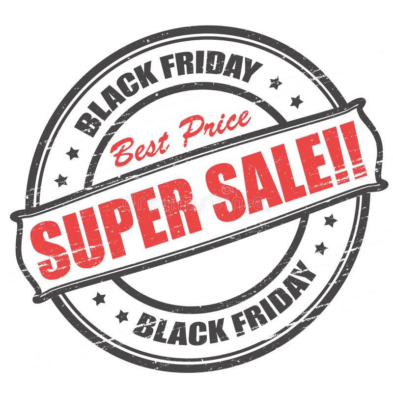 Venta estupenda de Black Friday stock de ilustración