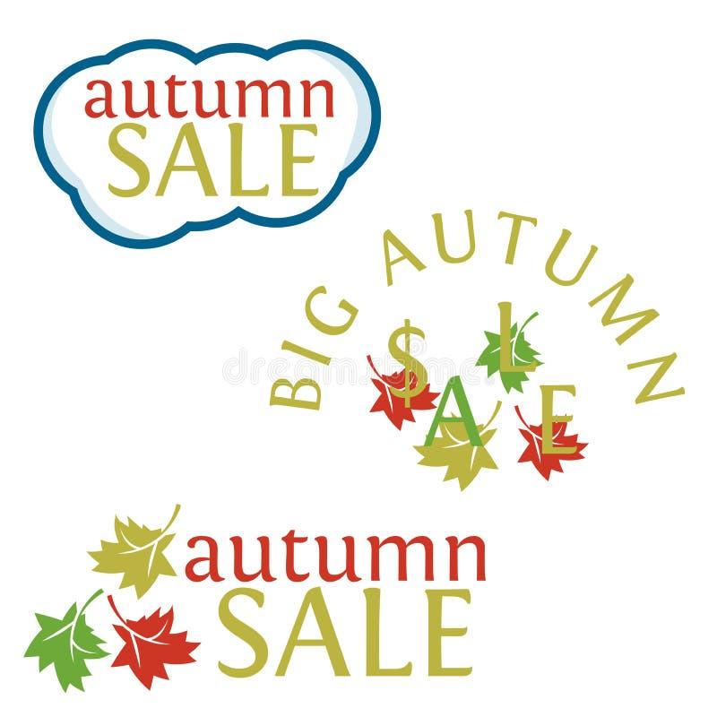 Venta grande del otoño stock de ilustración