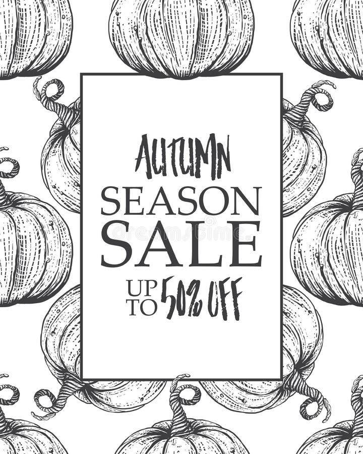 Venta grande del otoño del cartel del diseño libre illustration