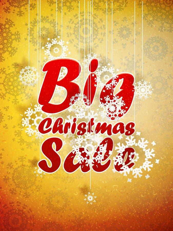 Venta grande retra de la Navidad con el espacio de la copia. ilustración del vector
