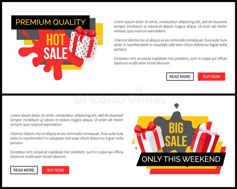 Venta grande solamente esta página web del fin de semana con la caja de regalo libre illustration
