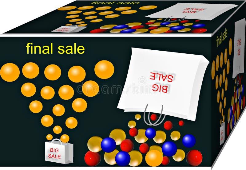 Venta grande Término de márketing y truco Fondo ilustraci?n 3D ilustración del vector