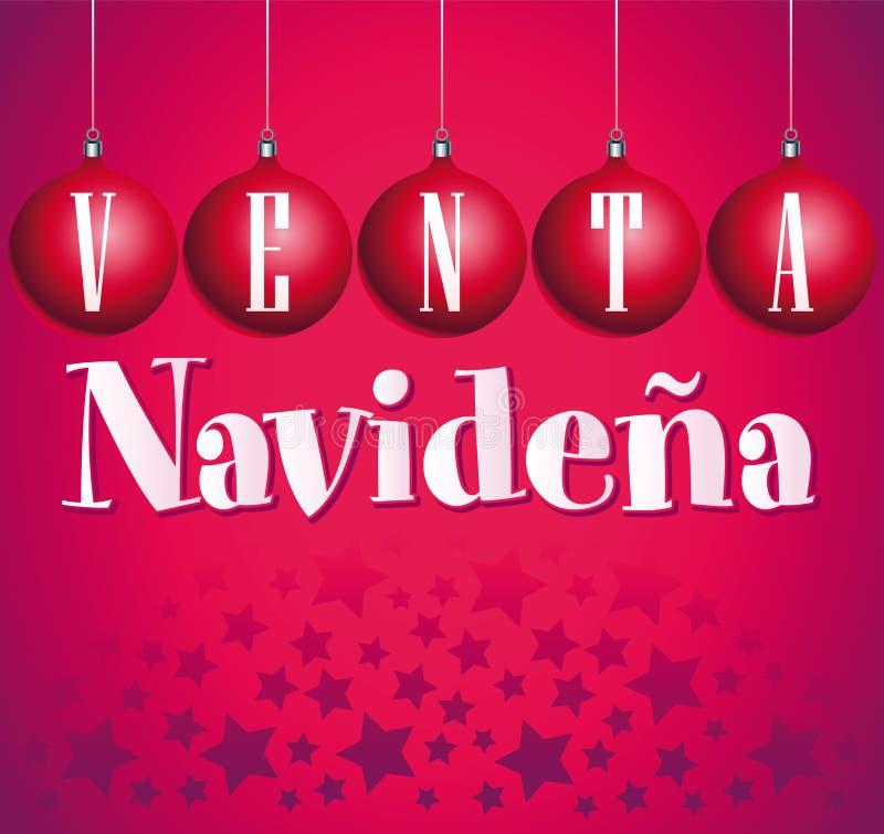 Venta Navidena - julförsäljningsspanjor royaltyfri illustrationer