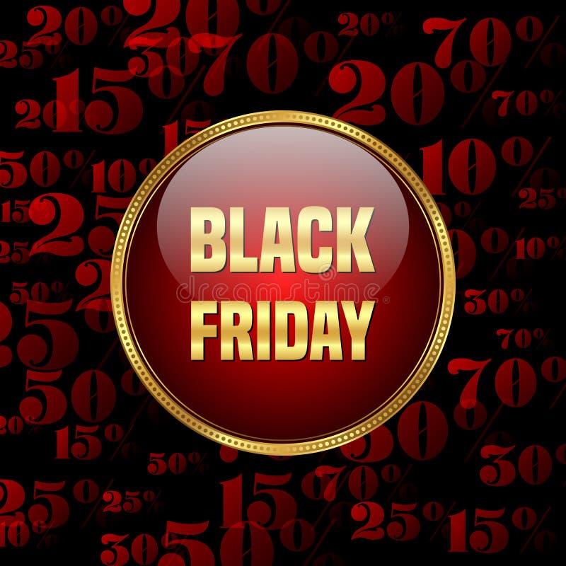 Venta negra de viernes libre illustration