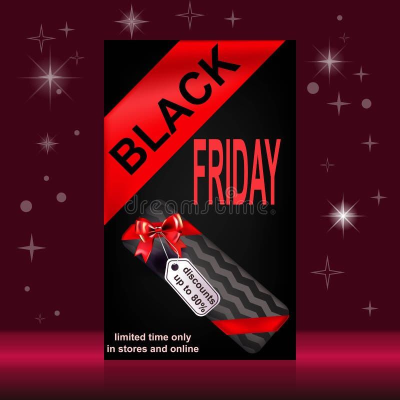 Venta negra de viernes ilustración del vector
