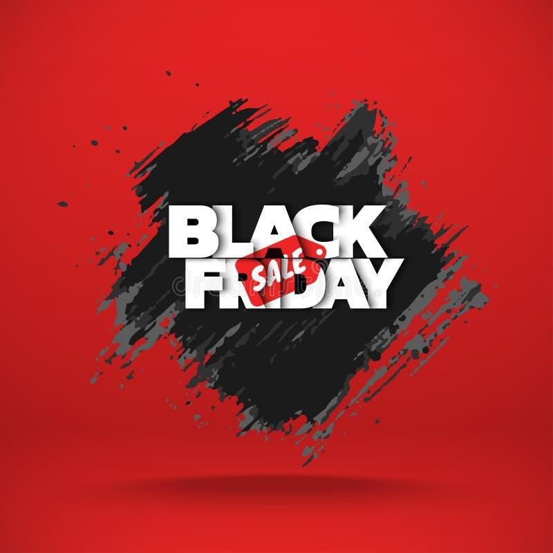 Venta negra de viernes stock de ilustración
