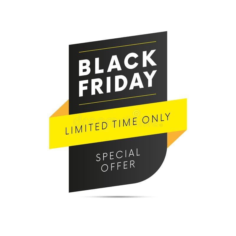 Venta negra de viernes Tiempo limitado solamente Vector stock de ilustración