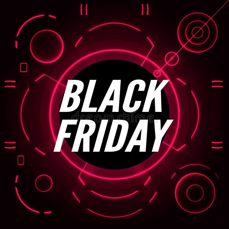 Venta negra de viernes Vector ilustración del vector