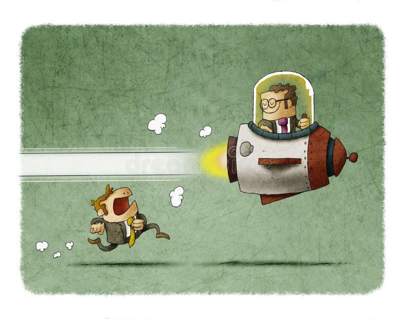 Ventaja competitiva stock de ilustración