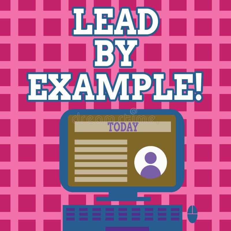 Ventaja de la demostración de la muestra del texto por ejemplo Organización conceptual del mentor de la gestión de la dirección d ilustración del vector
