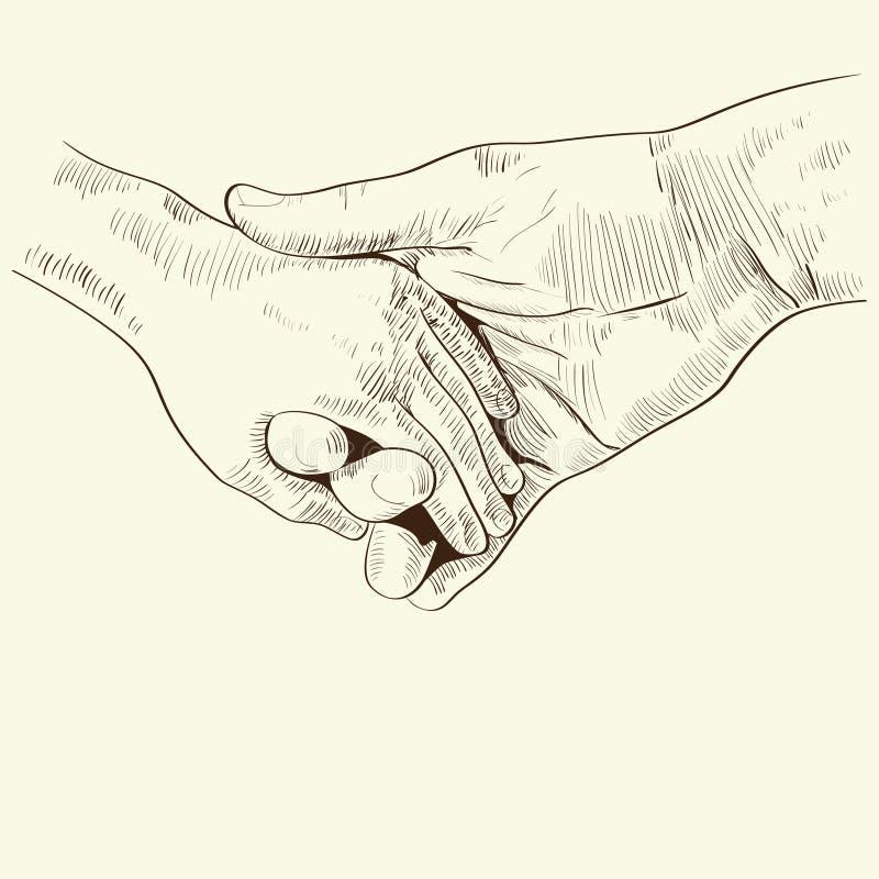 Ventaja de la mano de los padres su niño libre illustration