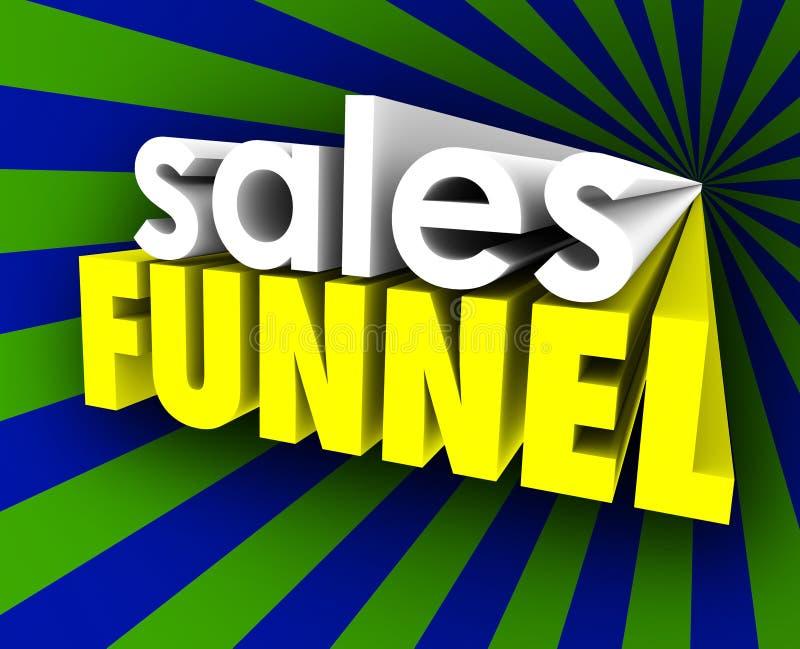 Ventaja del embudo de las ventas que consolida a clientes calificados de las perspectivas ilustración del vector