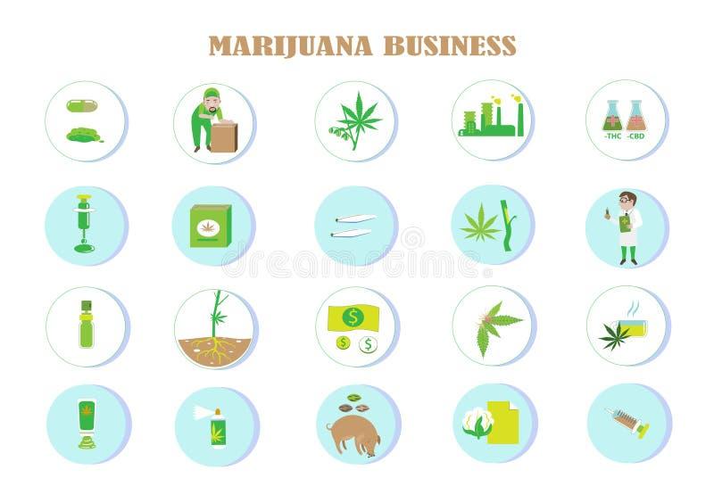 Ventajas de la marijuana stock de ilustración