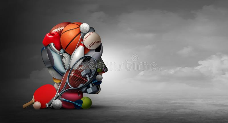 Ventajas del deporte ilustración del vector