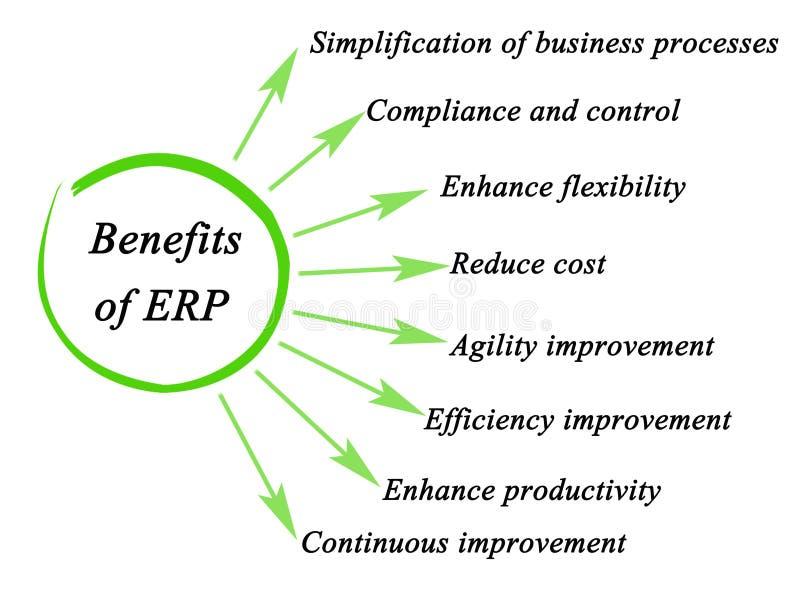 Ventajas del ERP stock de ilustración