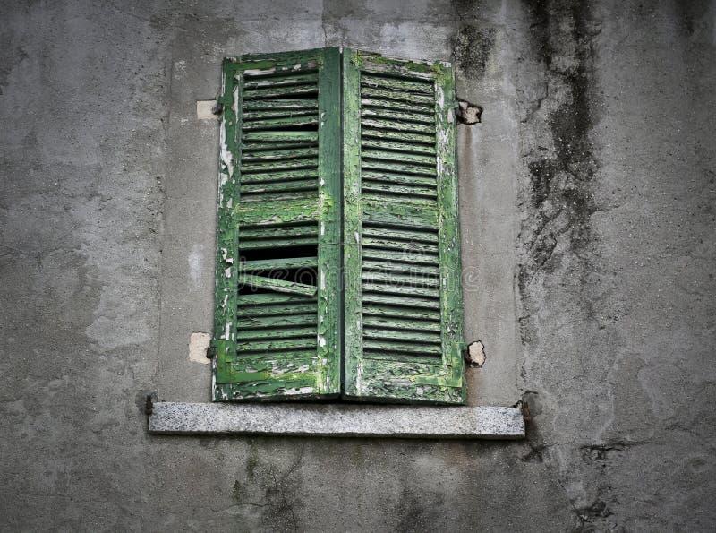 Ventana antigua vieja del gree foto de archivo libre de regalías