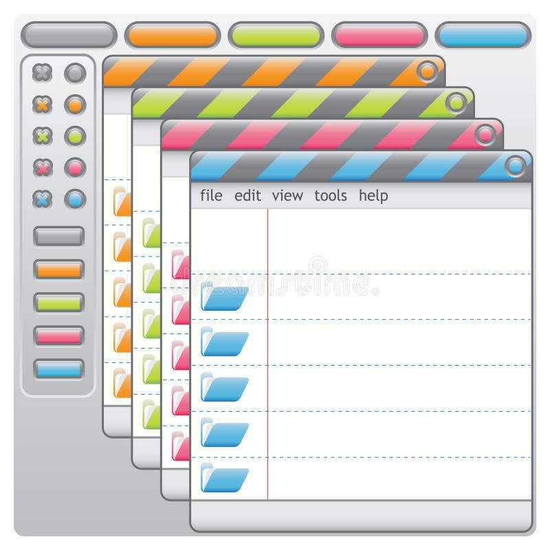 Download Ventana Como Escrituras De La Etiqueta Coloreadas Ilustración del Vector - Ilustración de texto, ordenador: 7278094