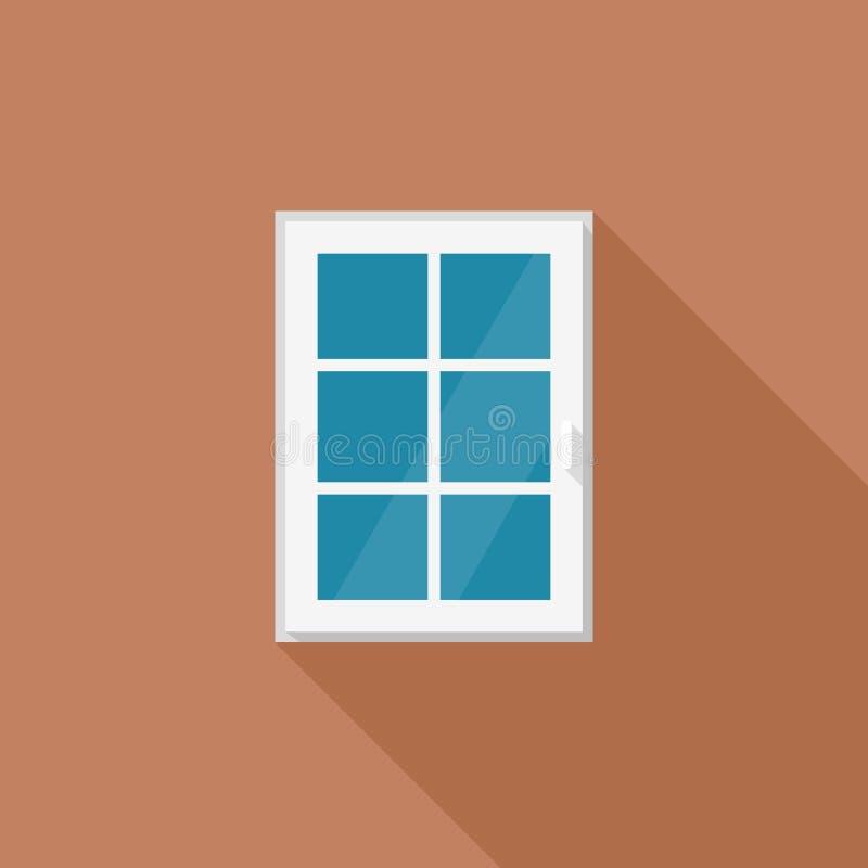 Ventana con el marco blanco imágenes de archivo libres de regalías