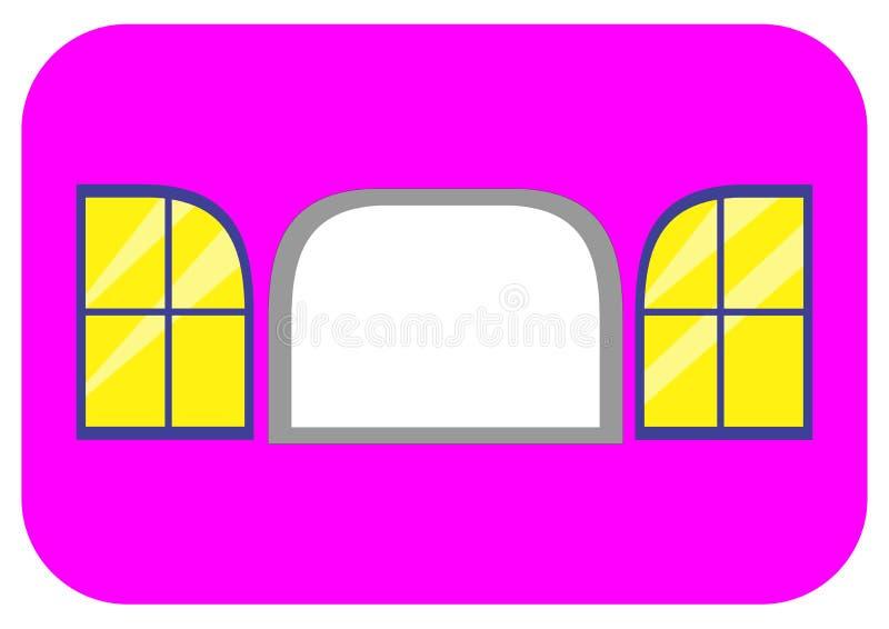 Ventana con la cubierta 2 en lados foto de archivo libre de regalías