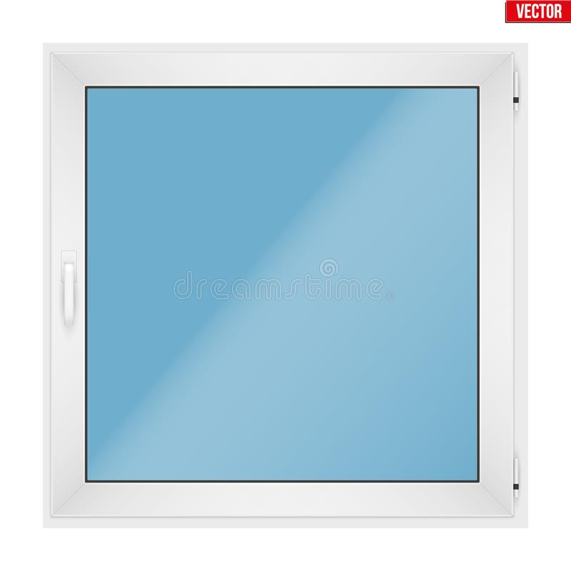 Ventana cuadrada del PVC con un marco libre illustration