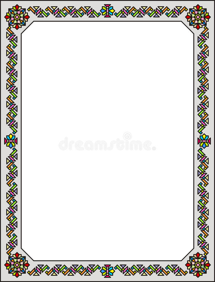 Ventana de cristal de colores 003 fotografía de archivo libre de regalías