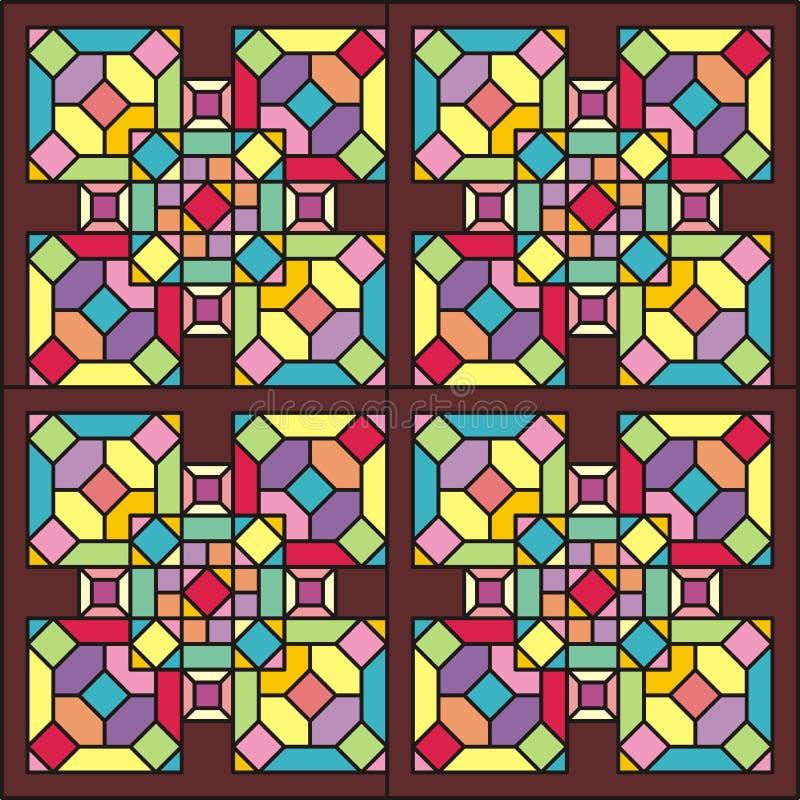 Ventana de cristal de colores 004 fotos de archivo