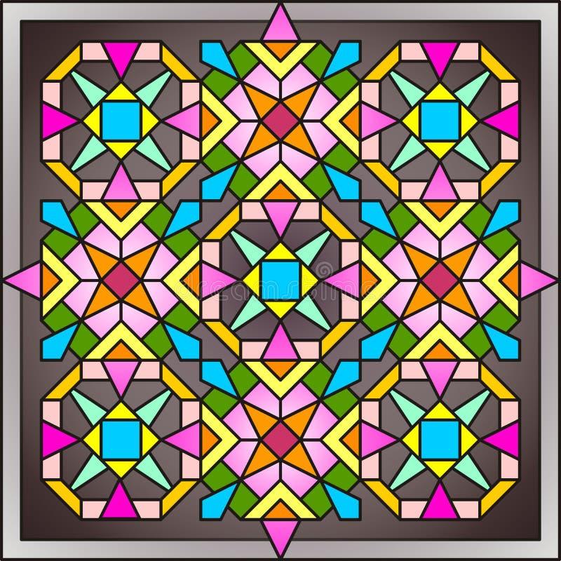 Ventana de cristal de colores 005 imagen de archivo libre de regalías