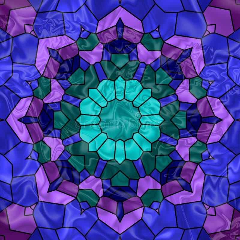 Ventana de cristal manchada libre illustration