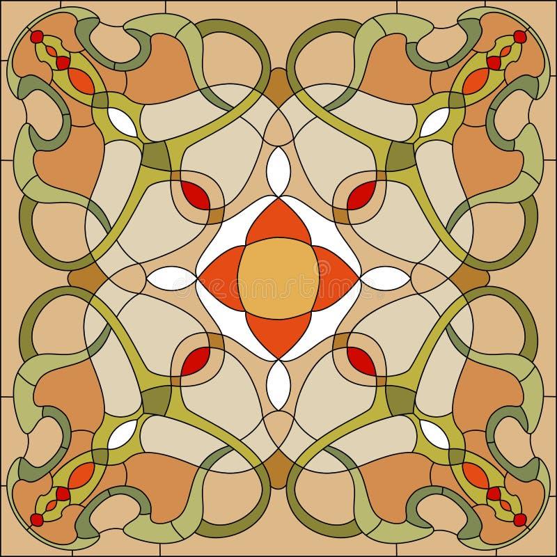 Ventana de cristal manchada 6 ilustración del vector