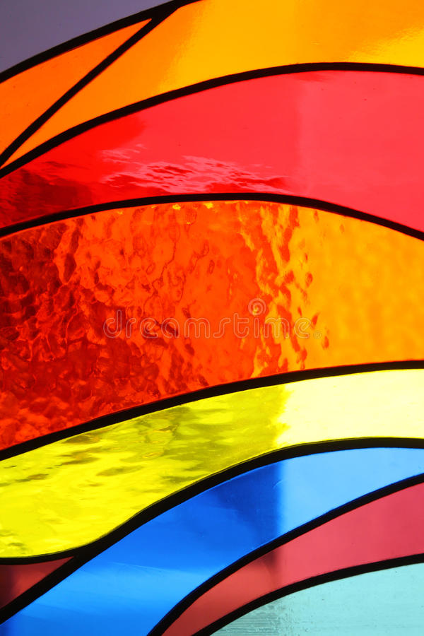 Ventana de cristal manchada en la iglesia imágenes de archivo libres de regalías