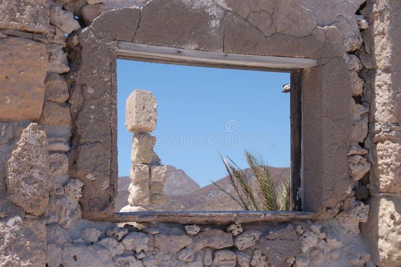 Ventana de Isla Carmen foto de archivo libre de regalías