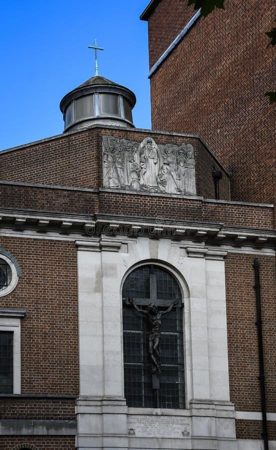 Ventana de la capilla de Tyburn foto de archivo libre de regalías