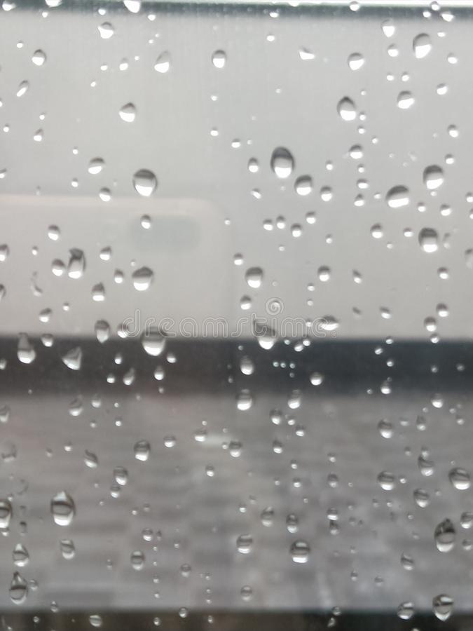Ventana de la lluvia foto de archivo libre de regalías