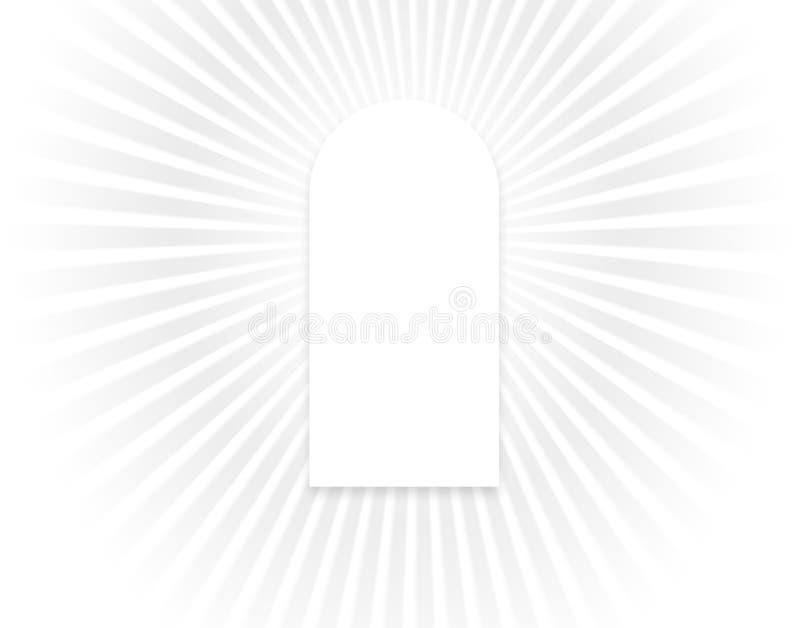 Ventana de la luz ilustración del vector