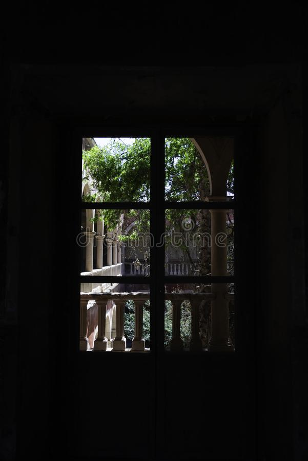 Ventana de la naturaleza fotografía de archivo