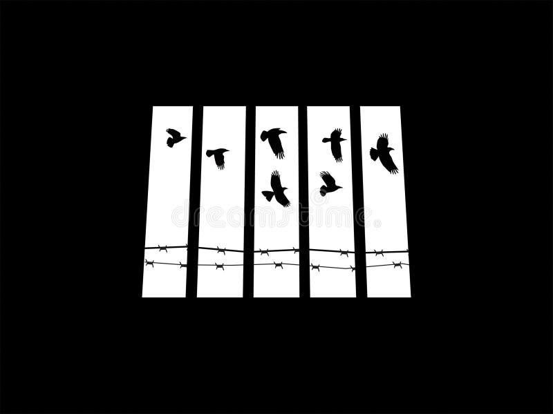 Ventana de la prisión stock de ilustración