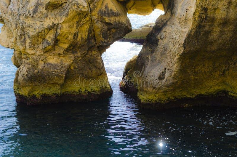 Ventana de la roca, La Valeta Malta foto de archivo