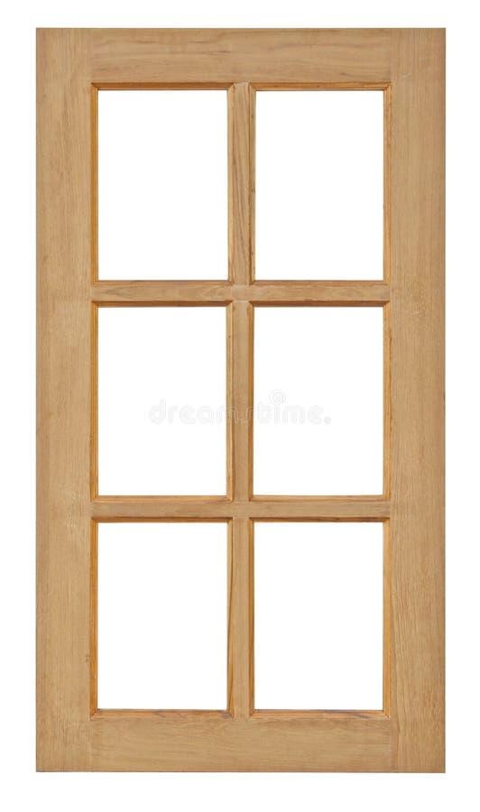Ventana de madera aislada para la construcción casera fotografía de archivo libre de regalías