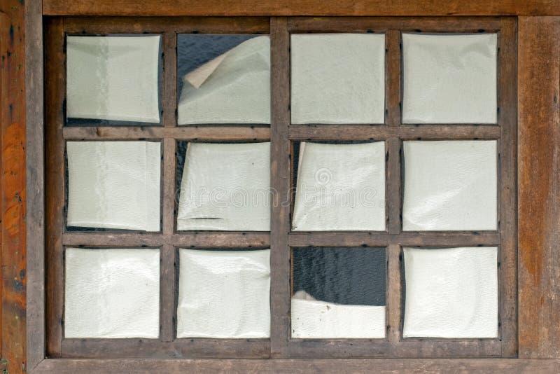 Ventana de madera histórica imagen de archivo