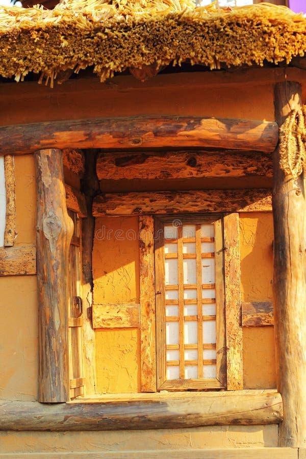 Ventana de madera vieja en la Corea del Sur. fotografía de archivo libre de regalías