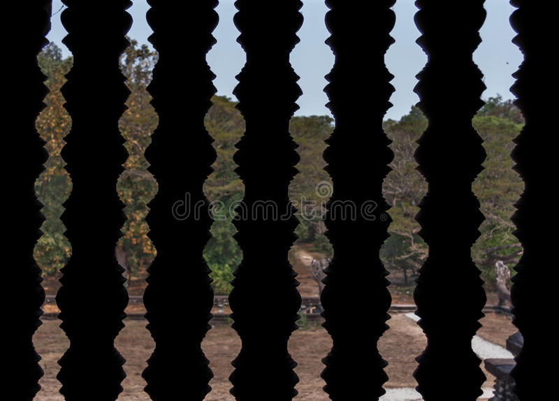 Download Ventana De Piedra Tallada De La Barra Foto de archivo - Imagen de camboya, cultura: 64206644