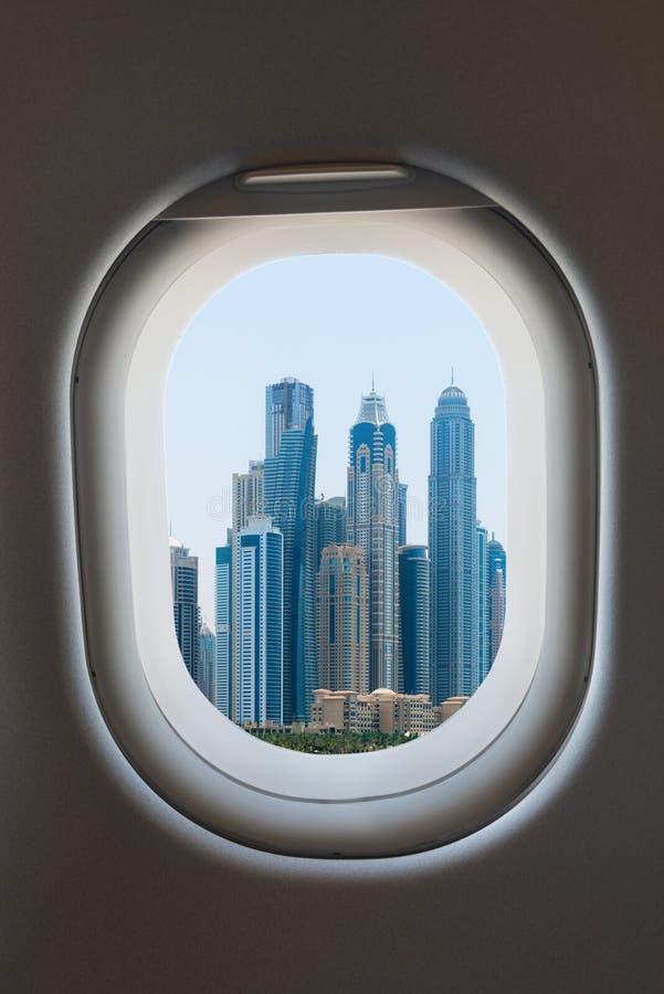 Ventana del aeroplano del interior de aviones imagen de archivo libre de regalías