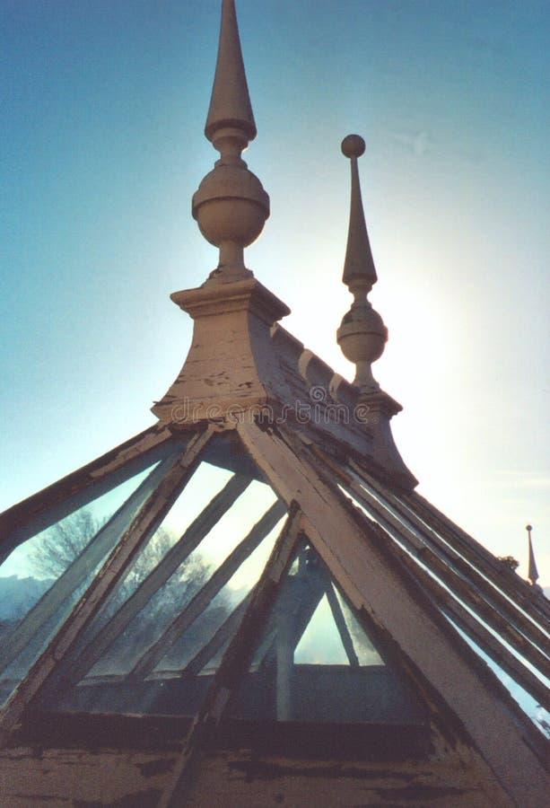 Ventana del atrio de Winchesterhouse fotografía de archivo