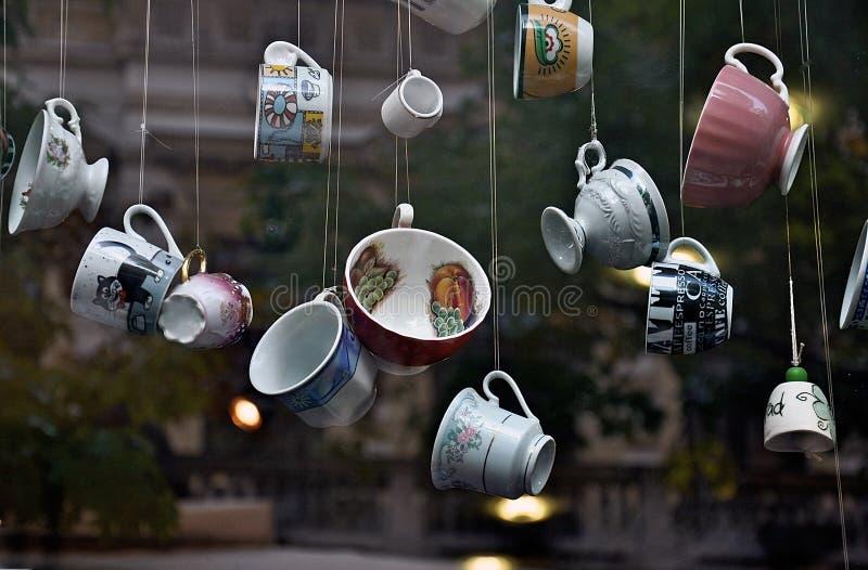 Ventana del café imágenes de archivo libres de regalías