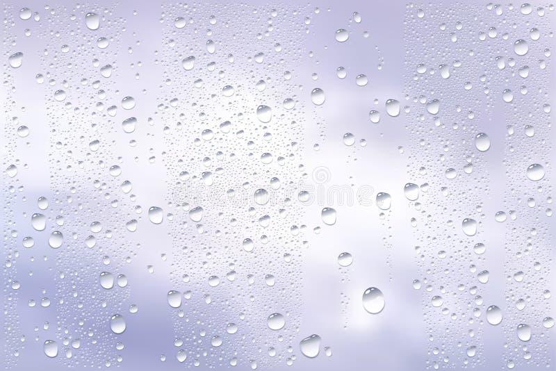 Ventana del canal de las gotas de agua stock de ilustración