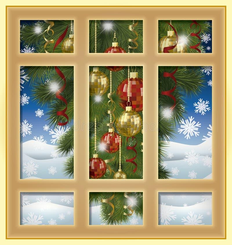 Download Ventana Del Invierno De La Navidad, Vector Stock de ilustración - Ilustración de venta, viejo: 64200397